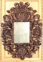 Magnificent Baroque Walnut Mirror Attributed to Maestro Giuseppe of Parma