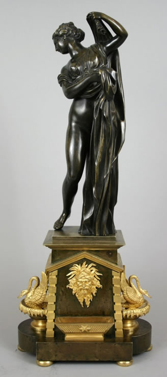 Bronze sculpture of the Vénus Callipyge on an Empire ormolu and bronze base