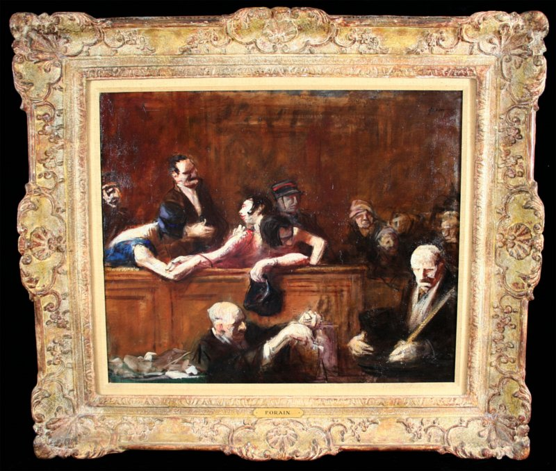 Courtroom scene by Forain
