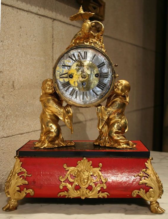 Louis XV Chinoiserie clock