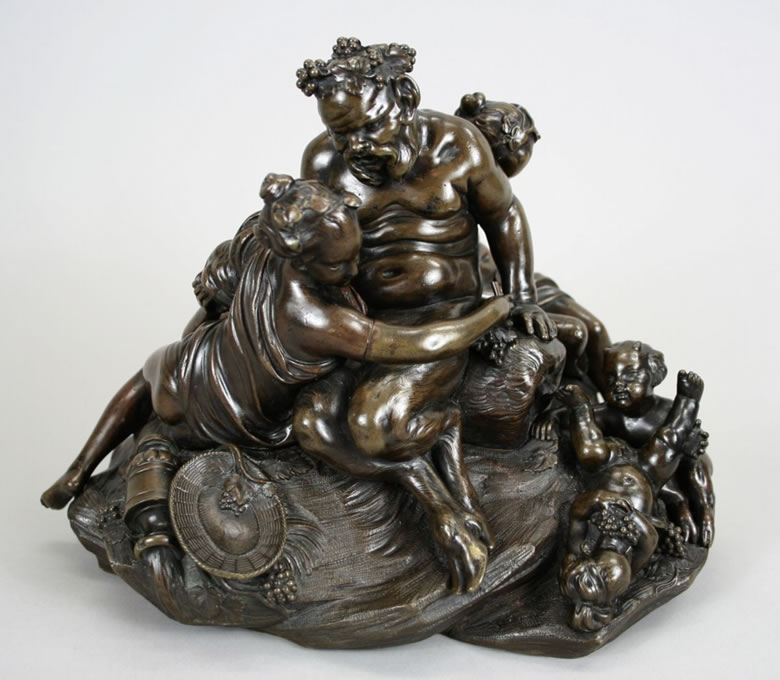 Bronze sculpture of Silenus by Etienne-Maurice Falconet after Boucher.
