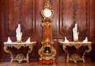 Very fine and rare pair of early Louis XV gilded consoles