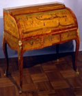 Roussel Marquetry roll-top desk
