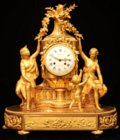 Louis XVI ormolu mantel clock by Lepine