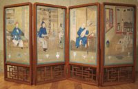 Louis XVI Chinoiserie screen from Chanteloup