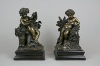 Pair Italian bronze figures