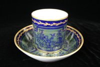 Sèvres chinoiserie coffee can and saucer (gobelet litron et soucoupe.)