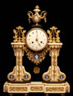 Louis XVI portico clock by Robinet from duc de Penthièvre