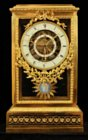 Louis XVI skeletonized pendule-cage in ormoulu case by Thomire
