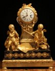 Louis XVI ormoulu and portor marble clock by Lepaute commemorating the eclipse of 1764